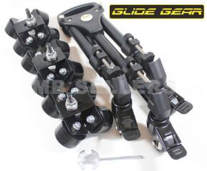 Glidegear SYL-960 Elite Camera Track Dolly Hybrid With Swivel & Slide Wheels