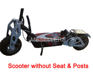 Shown without seat and post